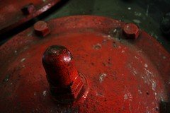 Red Metal Protrusion