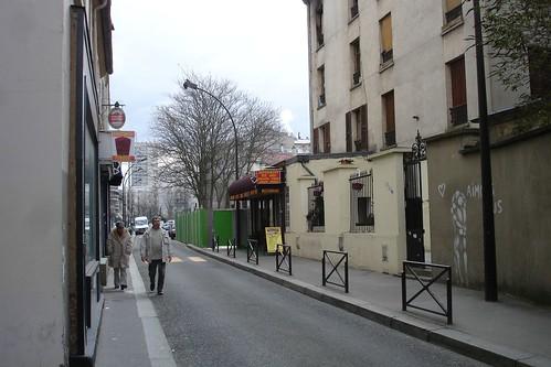 La rue du restaurant