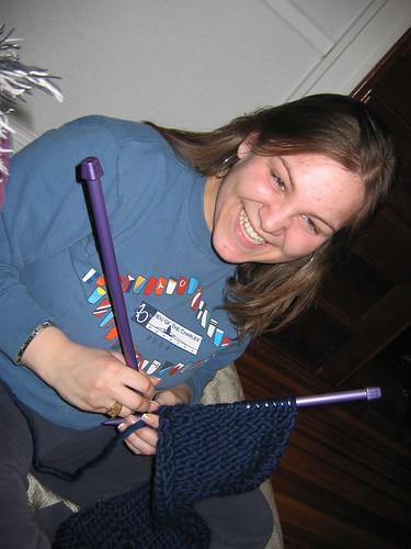 Emily Knitting: movie style