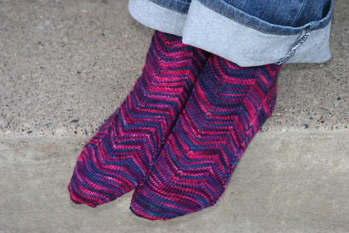 jaywalker socks - finished!