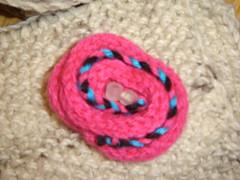 Flor de tricotin