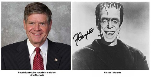 Separated at Birth? Jim Oberweis and Herman Munster