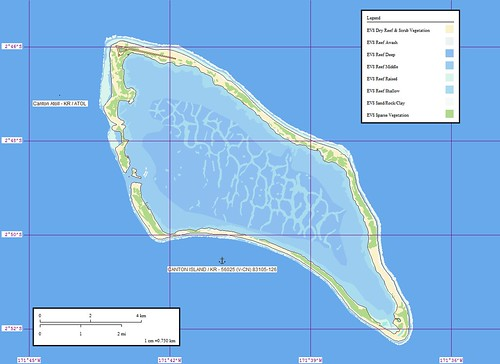Canton Atoll - Map