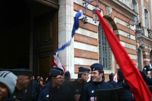 Falling of the French Flag