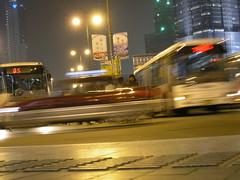 Busparkplatz Treiben