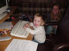 Olivia at computer