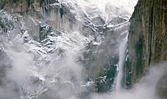 Yosemite Falls and Fog