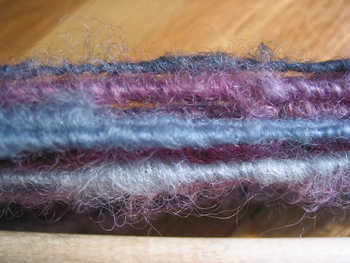 Core spun mohair locks