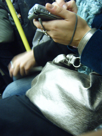 Metallic Bag & Hand Held Thingie