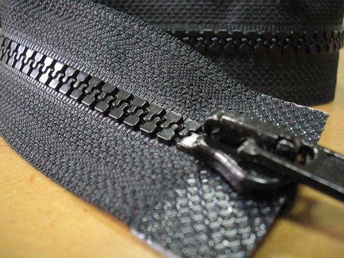 long black zipper