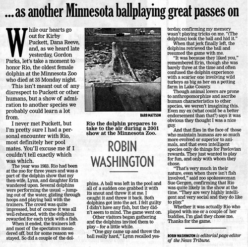 Scan of article from Duluth News Tribune featuring my pictures