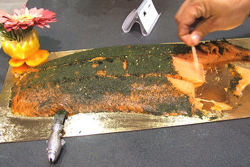 ducktrap smoked salmon, dill, damn fine stuff
