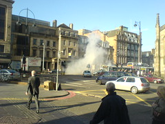 Smoke from number 30 Lothian Bus on Princes St, Edinburgh (2)