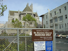 St. Dominic Church Parking only