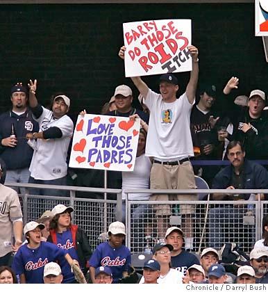 Fans imflame Bonds