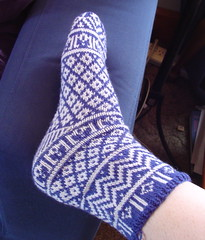 Mamluke socks - side (modeled)