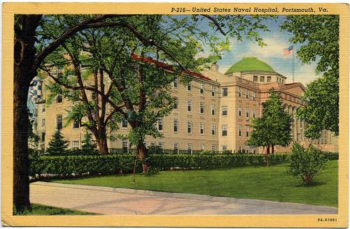 Postcard: US Naval Hospital, Portsmouth, Va. ca 1930
