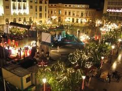 Persiapan Sambutan Tahun Baru di Plaza de las Tendillas, Cordoba, Spain