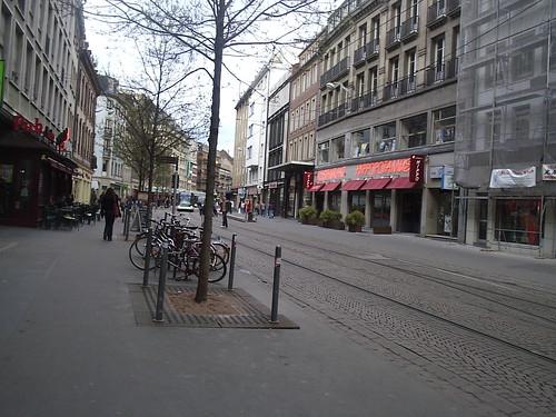 Strasbourg Street with tram tracks