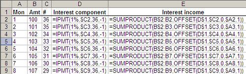 Excel snapshot