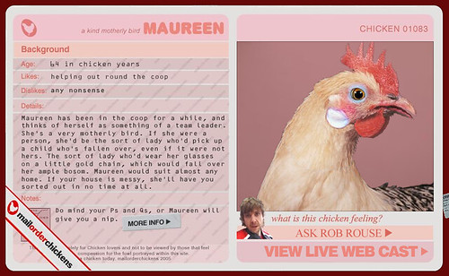 Mail Order Chickens.