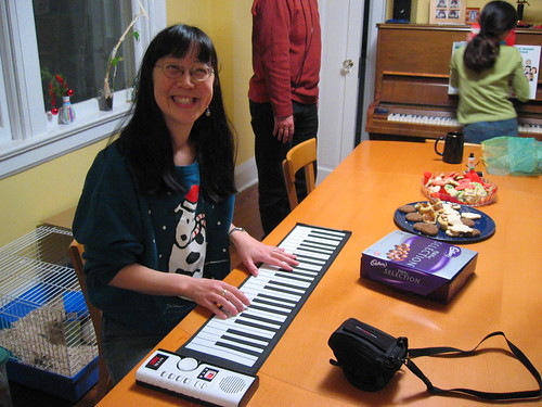 Me and my rollable keyboard!