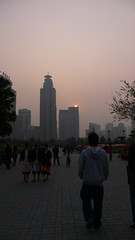 Shanghai sunset: pollution