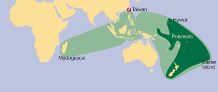 南島文化的分布範圍