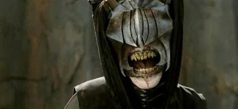 Mouth of Sauron smiles