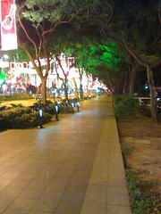 Orchard Road after midnight - space