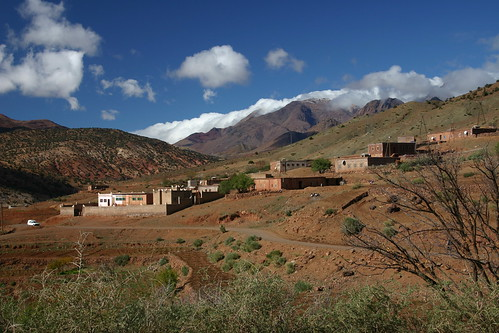 Isolated village in the High Atlas Range