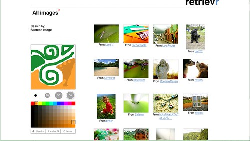 Flickr Retrievr Screenshot