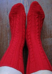 RibCable socks front