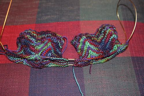 beginnings of jaywalker socks!