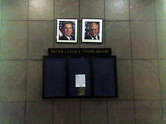 bush and cheney at federal building