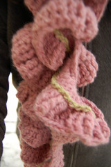 Pink Crocheted Scarf made by yours truly iHanna