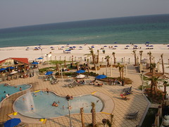 Pool and Beach at Hilton Garden Inn, Pensacola Beach FL