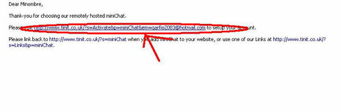 Crear un chat para el  msn space 1