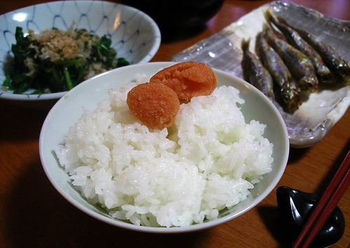 Mentaiko and rice