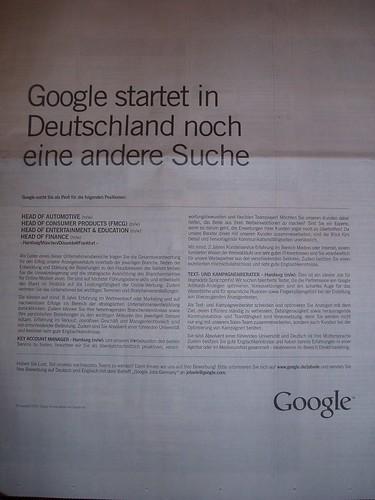 Google Anzeige