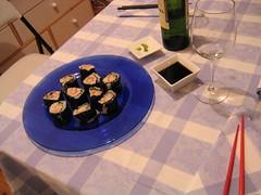 Salsa de soja, wasabi y albarinho