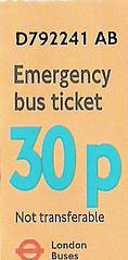 Emergency bus ticket