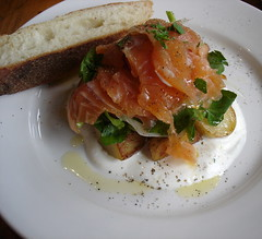 gravlax with roasted potatoes at Reservoir