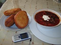 Piroshki and borscht at Eldenet city