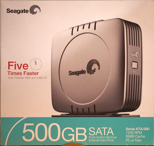 500 Gig Seagate SATA External Drive
