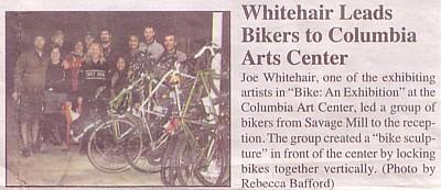Bike: An Exhibition - local news blurb