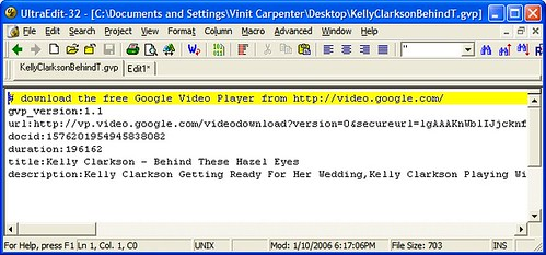 Google Video gvp file