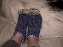 Pair #1 crochet socks