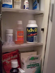Advil in the Bathroom Cabinet
