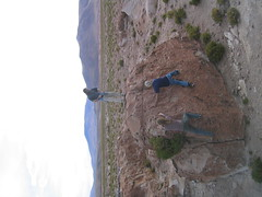 Tyler, HP and Andy Rock climbing